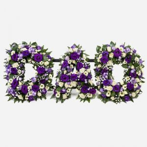 Wreath of flower letters