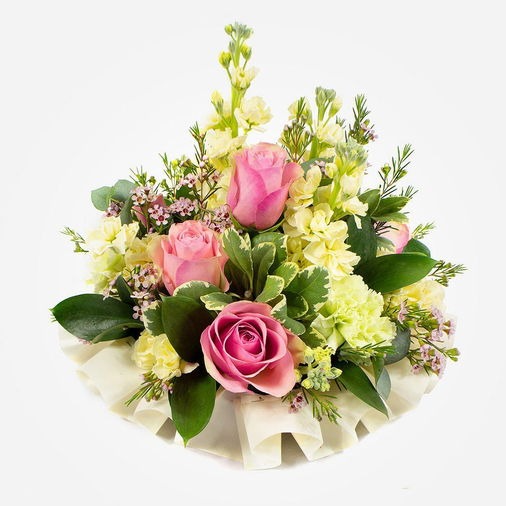 simple funeral posy