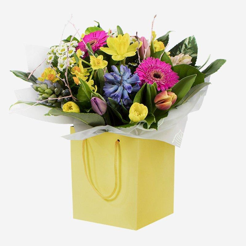 Meadow fresh flower arrangement in a box