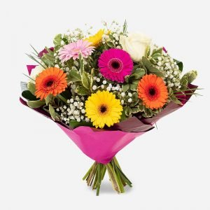 Good Vibes brightly coloured bouquet
